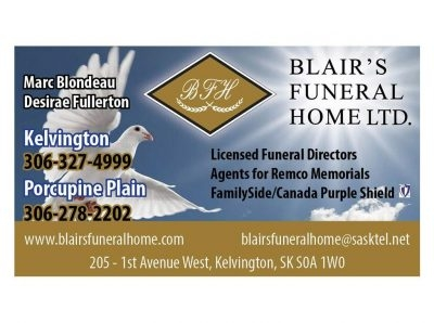 Blair's Funeral Home Ltd. Porcupine Plain